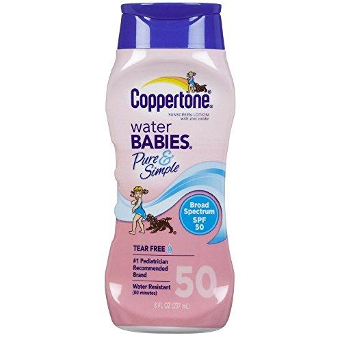 Coppertone Eau Bébés mettez de la crème Solaire SPF 50, 8 oz. (Pack de 2)