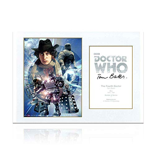 Tom Baker Signed Dr Who Poster