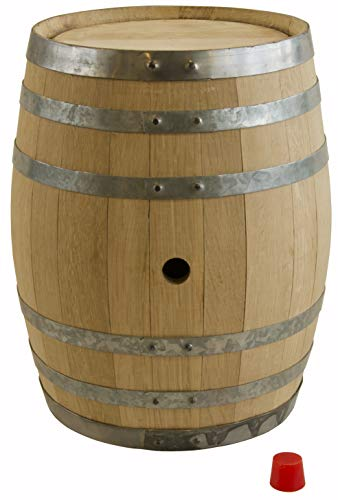 North Mountain Supply Unused American Oak Barrel 5 Gallon Medium Char - with Silicone Bung