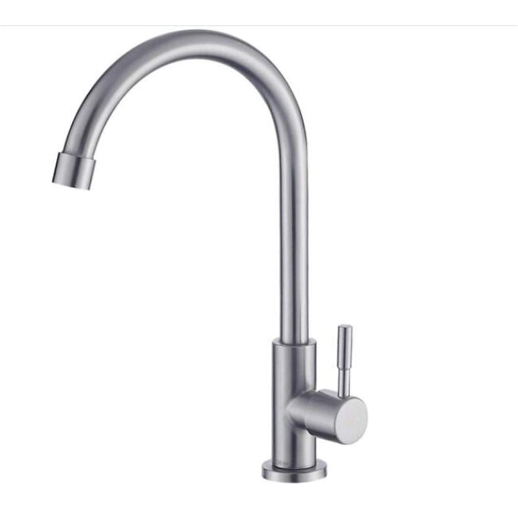 Bathroom Sink Basin Lever Mixer Tap Bathroom Kitchen Single Cold Faucet 304 Stainless Steel Sink Dishwasher Faucet