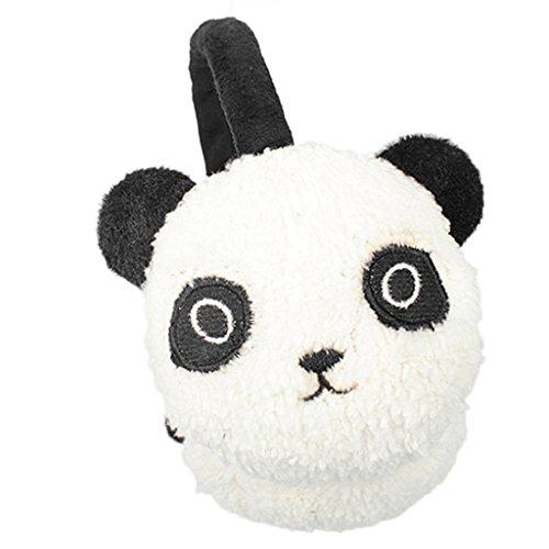 Winter Cute Panda Earmuff Ear Muff Warmer-White - 2