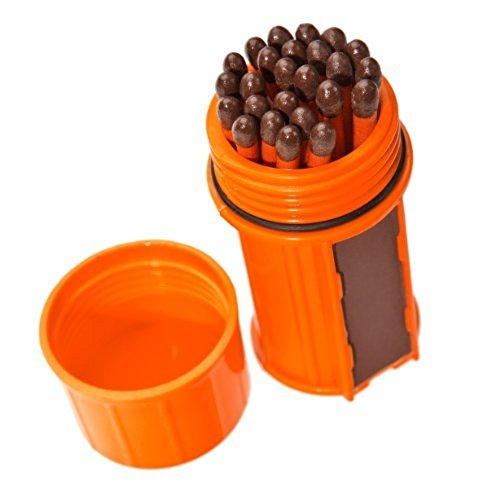 UCO Stormproof Match Kit with Waterproof Case, 25 Stormproof Matches and 3 Strikers - - Outlet Seattle Shopping