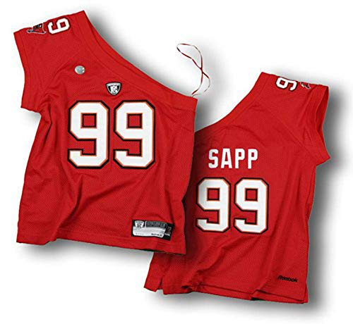 One Shoulder Womens Jersey - Tampa Bay Buccaneers Warren Sapp #99 Junior Womens NFL One Shoulder Jersey (Large)