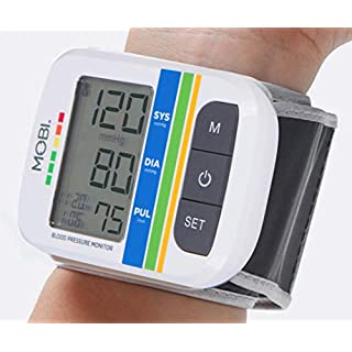 MOBI Health Automatic Wrist Blood Pressure Cuff Monitor - Detects Irregular Heartbeat – Monitors Pulse Rate – Fast Accurate Readings No. 1 Doctor Recommended Wrist Blood Pressure Monitor