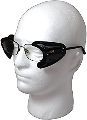 Opaque Black Tint Side Shields B-22 MHS Multi-Hazard Safety Glass SideShield