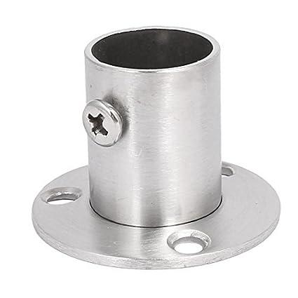 eDealMax Armario Ropa tendida tubo de la barra de soldadura cuello brida de soporte 22 mm de diámetro - - Amazon.com