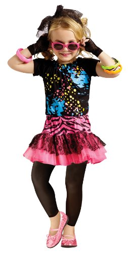 80's Pop Party Toddler Costume Size 4-6 Large