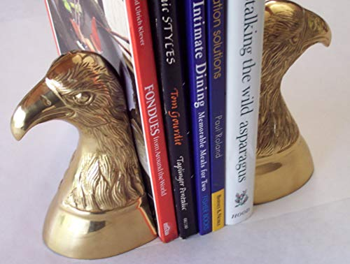 brass Eagle Head Bust BOOKENDS ()