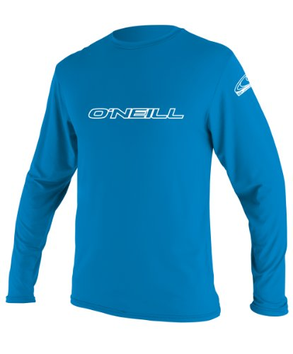 Oneill Women Wetsuits (O'Neill Wetsuits UV Sun Protection Youth Basic Skins Long Sleeve Rash Tee Sun Shirt Rash Guard, Bright Blue, 14)