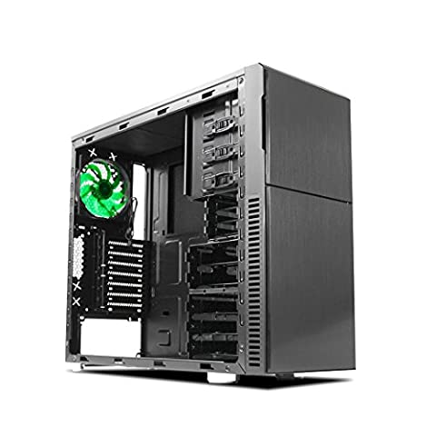 Nanoxia Deep Silence 3 Mid Tower Case Computer with 6 Fan Controllers, Fits ATX Motherboard and up to 8 HDD/SDD, 20.5 Pounds, Black (Sdd External Case)