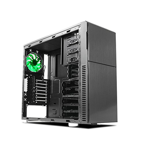 Nanoxia Deep Silence 3 Mid Tower Case Computer with 6 Fan Controllers, Fits ATX Motherboard and up to 8 HDD/SDD, 20.5 Pounds, Black (NXDS3B) by Nanoxia