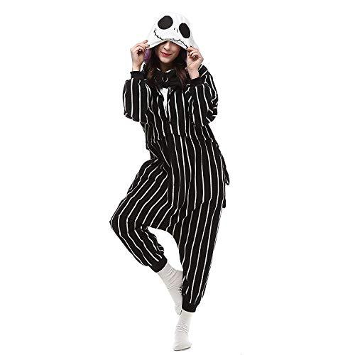 Quintion Norris Shark Onesie Black Skull Outfit Pajamas Halloween Cosplay Pyjamas]()