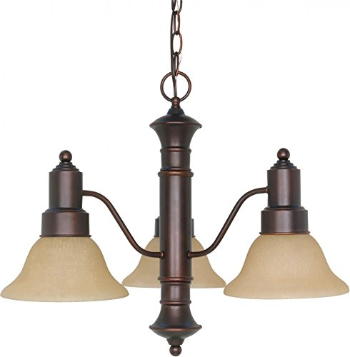 Nuvo 60 1254 Gotham 3 Light Chandelier with Alabaster Glass Shades