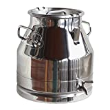 Stainless Steel Milk Can (WITH SPIGOT), Heavy Duty with Strong, Sealed Lid (5 Gallon)