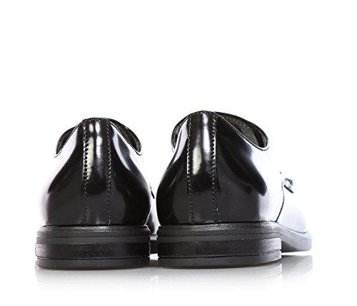 JARRETT - Chaussure à l'anglaise à lacets noire, en cuir, caractérisée par l'utilisation de matériaux d'haute qualité et cuir recherché, garçons ou filles