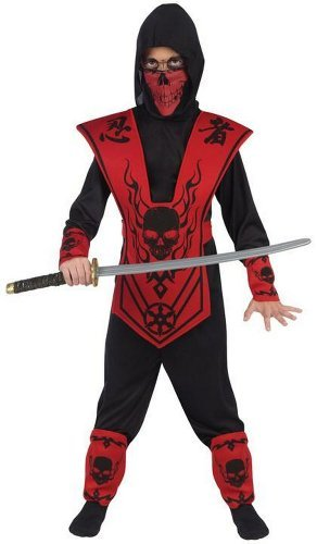 Fun World SML BLK/RED Skull Lord Ninja]()