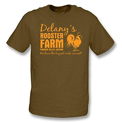 TshirtGrill Delanys Hahn-Bauernhoft-shirt - Mädchen Slimfit, Farbe- Brown