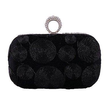 broderie Les de diamants femme soirée de Black mode sac qPq0w4rS