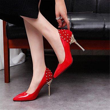los zapatos de tacón de aguja boca poco profundas con los desplazamientos de trabajo señaló los zapatos de matrimonio Red