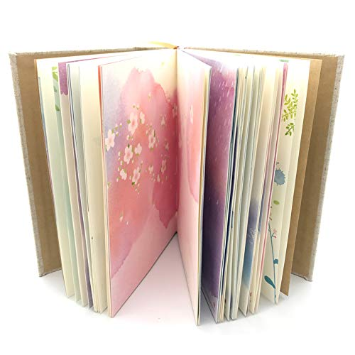 Siixu Colorful Blank Notebook, Unruled Personal Diary Journals to Write in for Women and Girls, Hardcover Writing Notepad Gift, Unique Watercolor Design, 192 Pages, 2 Bookmarks, Unlined]()
