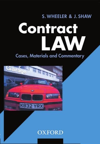 Contract Law: Cases, Materials, and Commentary