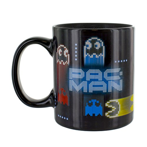 Pac Man Neon Heat Changing Ceramic Coffee Mug 10oz]()
