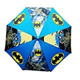 DC Comics Batman Kids' Umbrella with 3D Batman Figurine Handle