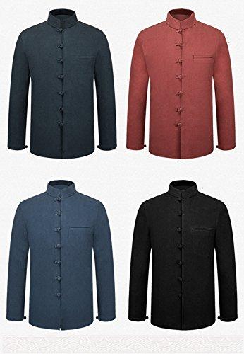 Tang Suit National Costume Retro Jackets Coats Men's dress Full dress Gentleman by BAOLUO-Tang Suit (Image #5)