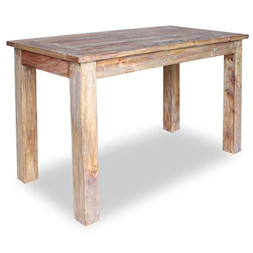 (vidaXL Solid Wood Dining Table 47.2