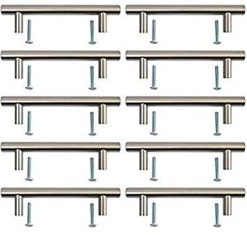 Edelstahl Finish 128/mm T Bar Griff K/üche Cup Board Schrank T/ürknauf L/änge 168/mm