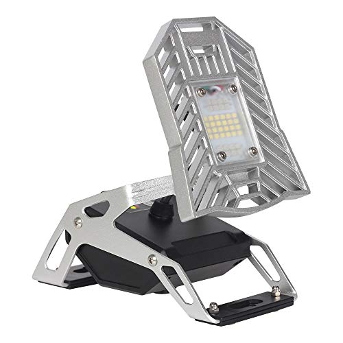 Spider Mobile Task Light - Emergency Light, Big Batteries, Bottom 4 Magnets, 1200 Lumen Rechargeable Task Light for The Garage, Campsite, Home, Auto, Basement and More by Youngist