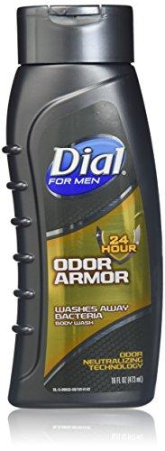 - Dial Men's Odor Armor Body Wash, 16 Fluid Ounces (Pack of 2)