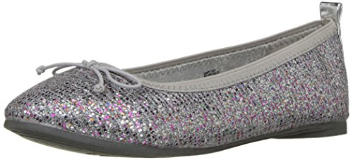 Kenneth Cole REACTION Girls' Copy Tap Ballet Flat, Silver/Multi, 2.5 M US Little (Flats For Girls)