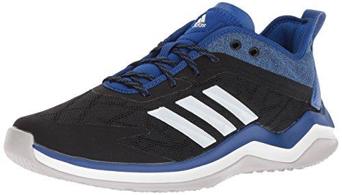 adidas Men's Speed Trainer 4 Baseball Shoe, Black/Crystal White/Collegiate Royal, 12.5 M US