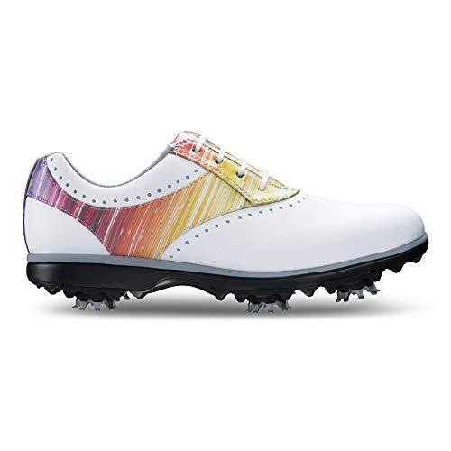 Closeout Womens Athletic Shoes - FootJoy Women's Emerge-Previous Season Style Golf Shoes White 7 M Rainbow, US