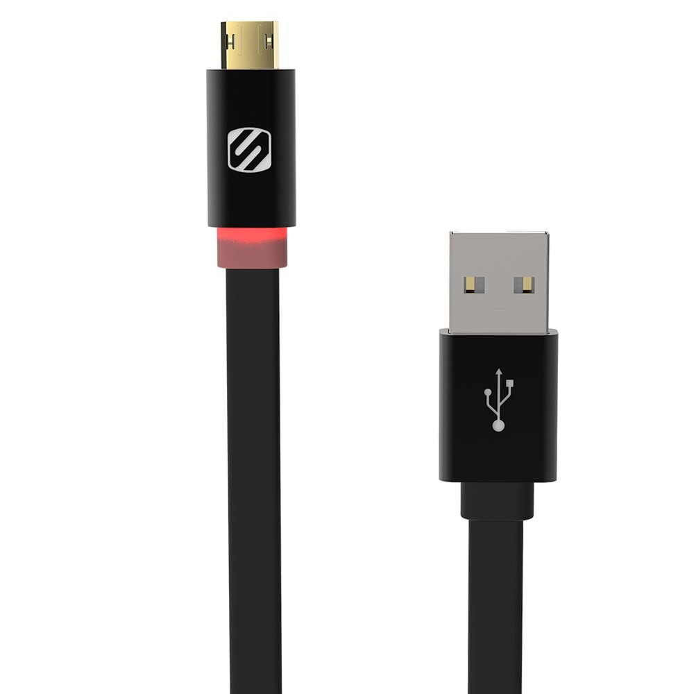 SCOSCHE Micro USB Data Cable for Android Smartphones - Retail Packaging - Black