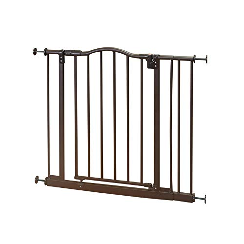 "North States MyPet 38.25"" Windsor Arch Gate: Heavy duty metal construction with triple lock technology. Pressure Mount. Fits 28.25""-38.25"" wide (28.5"" tall, Matte bronze)"
