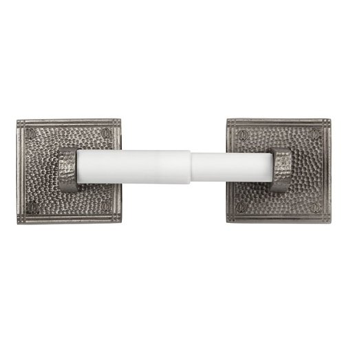 [The Copper Factory CF136SN Solid Copper Toilet Tissue Holder with a Square Backplates, Satin Nickel] (Loft Toilet Roll Holder)