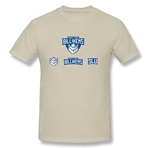 [DIY Mens saint louis university followup billikens logos O-Neck Short Sleeve T Shirt Natural L] (Pinky Brain Costume)