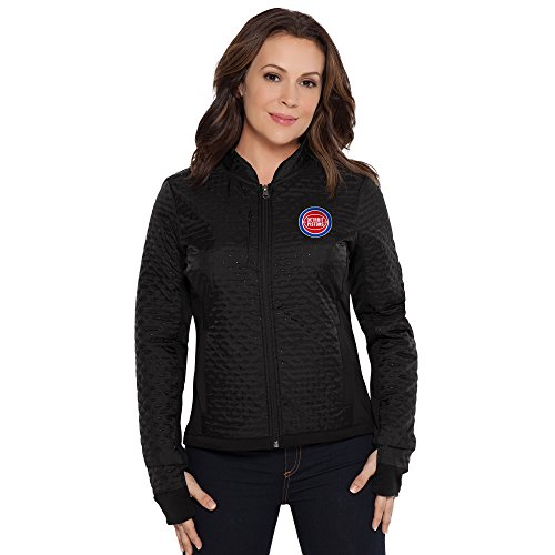 Touch by Alyssa Milano NBA Detroit Pistons Adult Women Lead Off Jacket, Small, Black