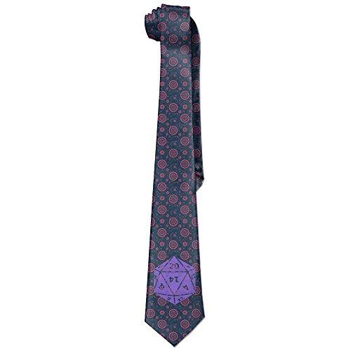 Men's Casual Style Ties Neck Tie - Printing D20 Dice (Dice Tie)