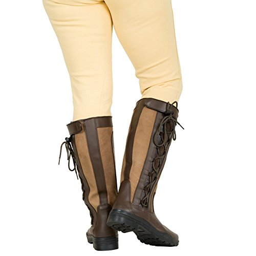 Cucita Di Stivali In Da Equitazione Campagna Camminando All'aperto Impermeabile Pelle Adulti wgRCAqA