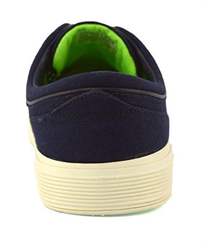 Polo Ralph Lauren Y2054 FAXON Marine Schuhe Mann schnürt Stoff Turnschuhe Blau