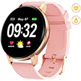 GOKOO Smart Watch for Women with Activity Fitness Tracker Waterproof Smartwatch with Heart Rate Blood Pressure Sleep Monitor Pedometer Remote Camera Music Control Calorie Step Full Touch Color Screen