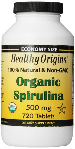Healthy Orgins Organic and Kosher Spirulina Tablets 500 mg 720 Count