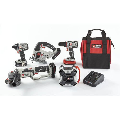 Porter-Cable PCCK616L4-CPO 20V MAX 1.5 Ah Cordless Lithium-Ion 5-Tool Combo Kit with 3 Batteries