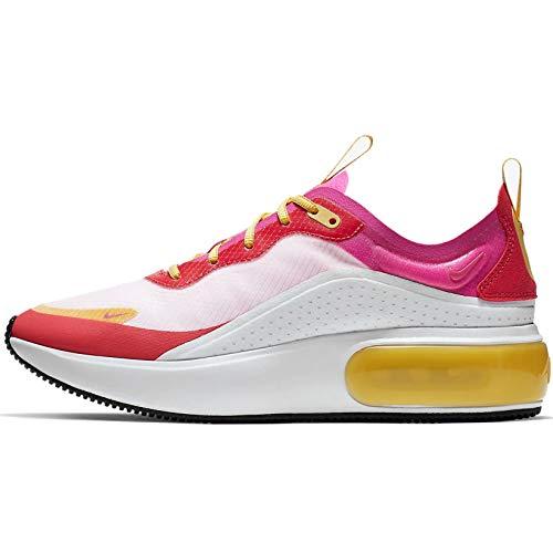 Nike Womens Air Max Dia Running Shoes (8.5, White/Laser Fuschia/Ember Glow)