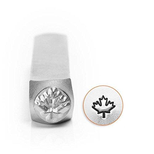 ImpressArt- 6mm, Maple Leaf Metal Stamp - Leaf Maple Punch