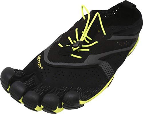 Vibram Men's V Running Shoe, Black/Yellow, 43 EU/9.5-10 M US