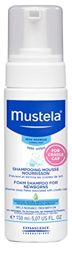 (Mustela Foam Shampoo for Newborns, Baby Shampoo, Helps Prevent and Reduce Cradle Cap, with Natural Avocado Perseose, 5.07 Ounce)